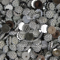 С-ка пупер пластик  1 см, серебро