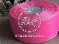 Органза 4 см , ярко-розовая