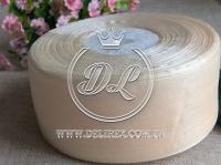 Органза 4 см , молочная