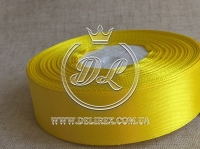 Атлас 2.5 см , желтый 15