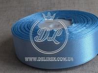Атлас 0.6 см , голубой  20