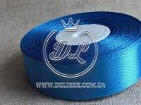 Атлас 0.9 см ,средне-синий  36