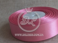 Атлас 2.5 см , грязно-розовый 82