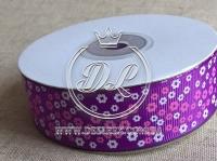 """Репс 2.5 см """"Мини цветок',темно-фиолетовый"""
