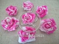 Бутоны роз  # 07 , бело-малиновые (100 шт.)