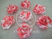 Бутоны роз  # 07 , бело-коралловые (100 шт.)