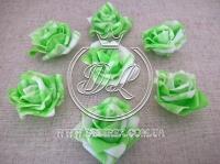 Бутоны роз  # 07 , бело-салатовые (100 шт.)