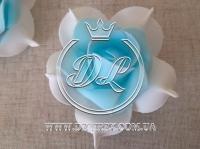 Бутоны роз  # 005 - 7 см , бело-голубые