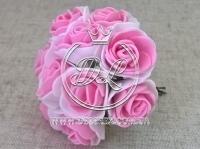Роза  # 11007 -3 см, бело-розовая