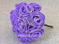 Роза  # 11007 -3 см, фиолетовая