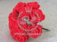 Роза  # 11007 -3 см, красная