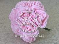Роза  # 11007 -3 см, св.розовая