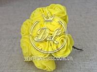 Роза  # 11007 -3 см, желтая