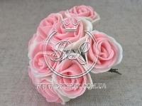 Роза  # 11007 -3 см, молочно-персиковая