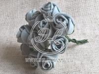 Роза  из Фома 1.5 см, серая