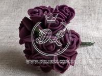 Роза  из Фома 1.5 см, темно- бордовая