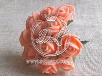 Роза  из Фома 1.5 см, св.оранжевая
