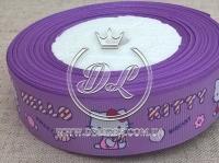 """Репс 2.5 см """"Hello Kitty"""" , на фиолетовом"""