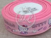 """Репс 2.5 см """"Hello Kitty"""" , на розовом"""