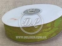 Атлас +кружево 2.5 см,оливковое