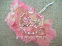 Цветок с жемчугом TF 887 , розовый