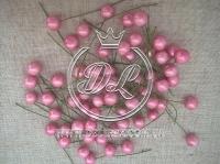 Шарики на проволоке лаковые,розовые