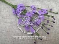 Веточка с фоамираном 20 см , фиолетовая