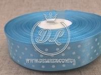 Атлас Горох 0,9 см, голубой