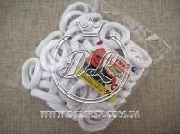 Резинки Калуш - белый нейлон- 50 шт.