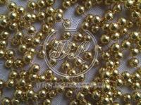 Новогодние бусы 6 мм, золото