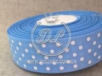 Репс в Горох 0.9 см, голубой 172