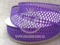"""Ажур """"Ромбик""""  4 см, темно-фиолетовый 35"""