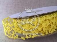 """Ажур """"Листик"""" 3 см , желтый 15"""