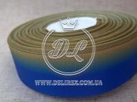 Рапс Градиент 2.5 см, сине-оливковый