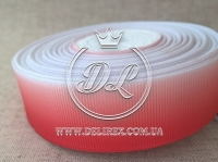 Рапс Градиент 2.5 см, бело-красный