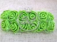 Роза 2.2 см с фатином, салатовая