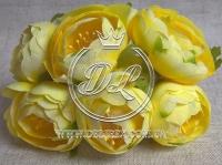 Пионы с тычинками, желтые