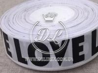 Репс 2.5 см надпись LOVE ,на белом