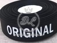 Репс 2.5 см надпись ORIGINAL  ,на черном