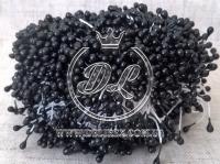 Тычинки 2 мм, черные (белая нитка)