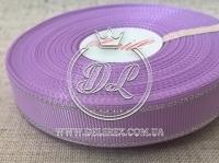 Репс с люрексом 1.5 см (серебро), св.фиолетовый
