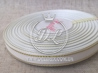 Репс с люрексом 0.9 см (золото), белый