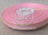 Репс с люрексом 0.9 см (золото), розовый
