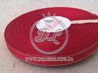 Репс с люрексом 0.9 см (серебро), темно-красный