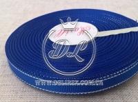 Репс с люрексом 0.9 см (серебро), темно-синый