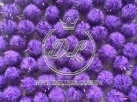 Помпоны 1.5 см. с люрексом, фиолетовые (1000 шт.)