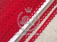 Кружево вязаное 1.1 см, красное