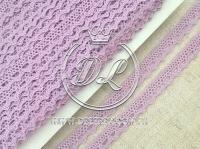 Кружево вязаное 1.1 см, св.фиолетовое