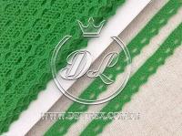 Кружево вязаное 1.1 см, св.зелёное