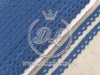 Кружево вязаное 1.1 см, ср.синее